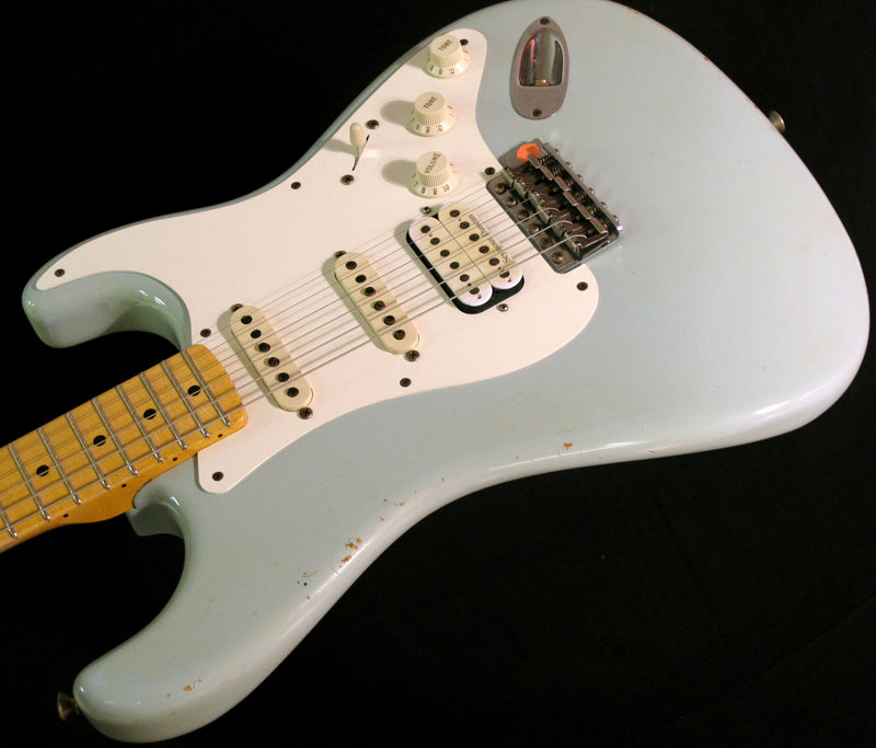 Used Fender Custom Shop '57 Stratocaster Relic Faded Sonic Blue-Electric Guitars-Brian's Guitars