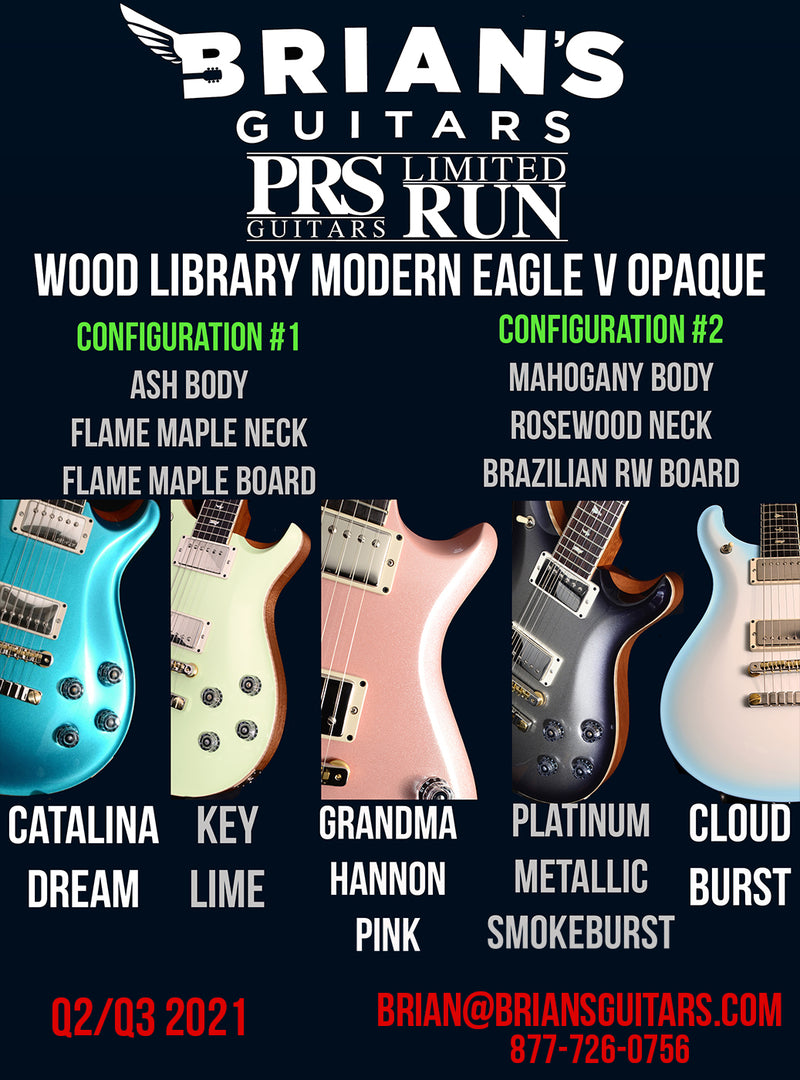 Paul Reed Smith Wood Library Modern Eagle V Opaque Brian's Limited-Brian's Guitars