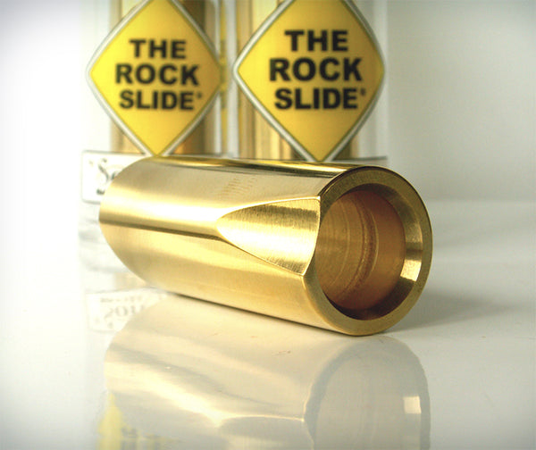 The Rock Slide Polished Brass Slide-Brian's Guitars