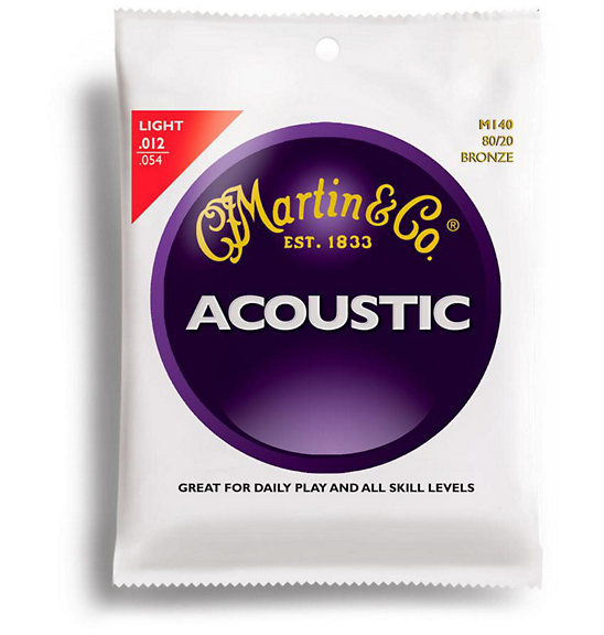 Martin M140 80/20 Bronze Light Acoustic Guitar Strings-Accessories-Brian's Guitars