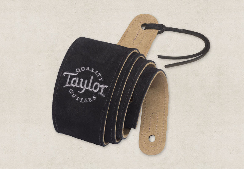 Taylor Guitars Black Suede Strap-Accessories-Brian's Guitars