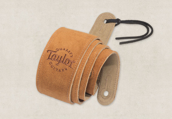 Taylor Guitars Honey Suede Strap-Accessories-Brian's Guitars