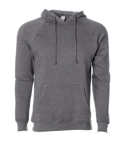 Gray PRM33SBP pullover hooded sweatshirt from Independent Trading Company