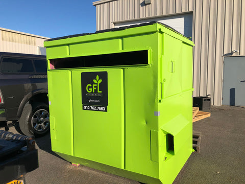 Large Fluorescent Recycling Bin at PCA