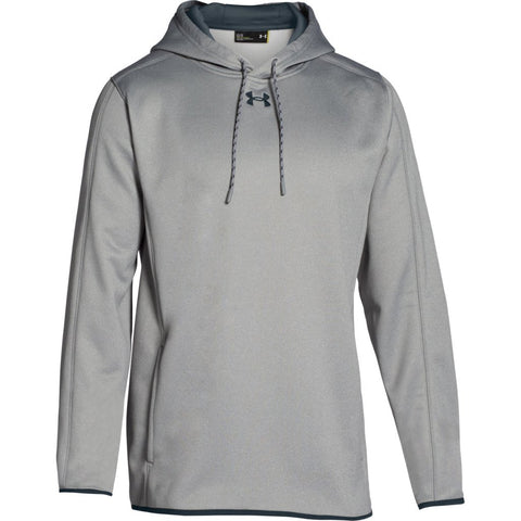 Under Armour Double Threat Hooded Fleece in Silver