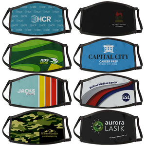 Three Layer Sublimated Face Mask