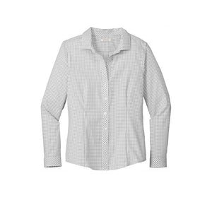 Ladies Red House Open Ground Check Non-Iron Shirt