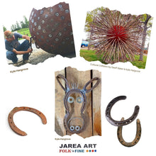 Load image into Gallery viewer, Horseshoe Donkey Sculpture