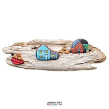 Load image into Gallery viewer, Driftwood & Rock Sculpture - Blue House