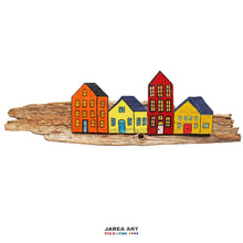 Load image into Gallery viewer, Fence & Driftwood Sculpture - Orange/Yellow/Red/Yellow