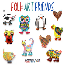 Load image into Gallery viewer, Tink the Chicken - Folk Art Friend