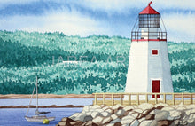 Load image into Gallery viewer, Pendlebury Lighthouse St Andrews New Brunswick Print