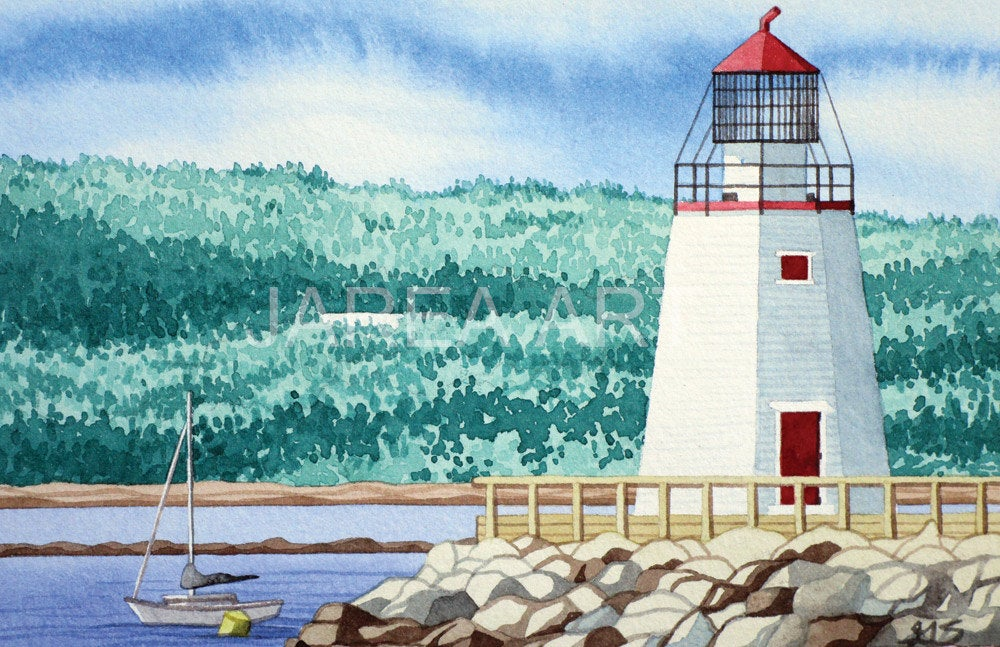 Pendlebury Lighthouse St Andrews New Brunswick Print