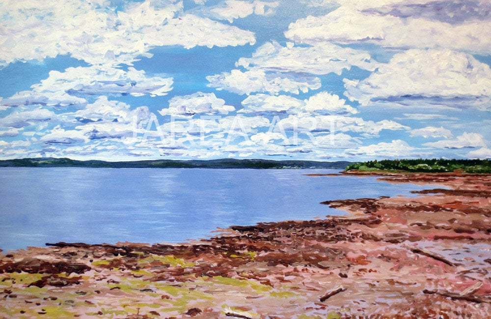 Passamaquoddy Bay Coastline St. Andrews New Brunswick Print