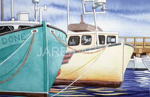 All Done Fishing Boats St. Andrews New Brunswick Print