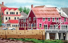 Load image into Gallery viewer, Cottage Craft Market Square New Brunswick Print