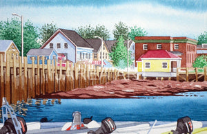 St. Andrews Wharf Low Tide New Brunswick Print