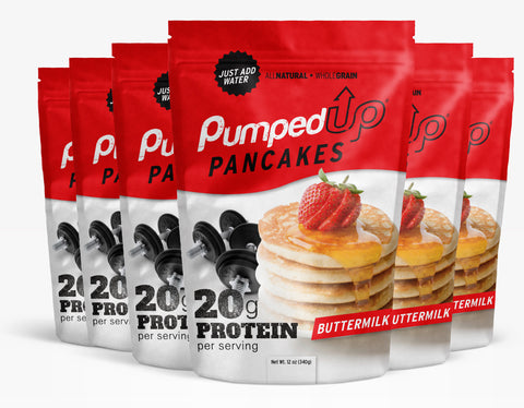 6 Pack (6 x 12oz) Protein Pancake Mix - Buttermilk