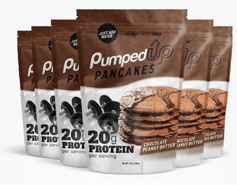 6 Pack (6 x 12oz) Protein Pancake Mix - Chocolate Peanut Butter