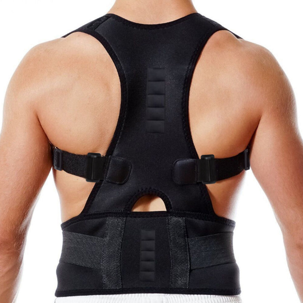Women Men Support Magnetic Back Shoulder Brace
