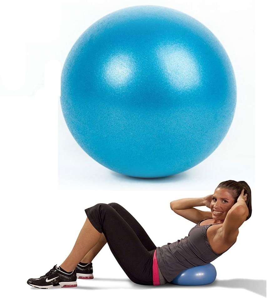 CosArt Mini Pilates Yoga Ball, 25cm/9 Inch Exercise Ball Anti-Slip Fitness Training Ball for Pilates, Yoga, Birthing, Stability Gym Workout Training Physical Therapy