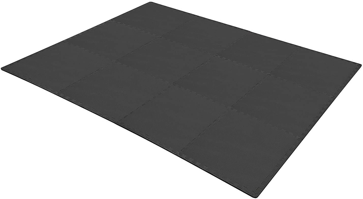 BalanceFrom Puzzle Exercise Mat with EVA Foam Interlocking Tiles for Exercise, MMA, Gymnastics and Home Gym Protective Flooring