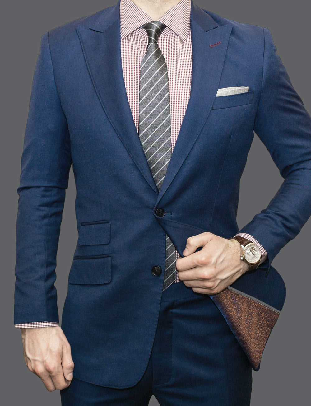 Business man in a blue suit