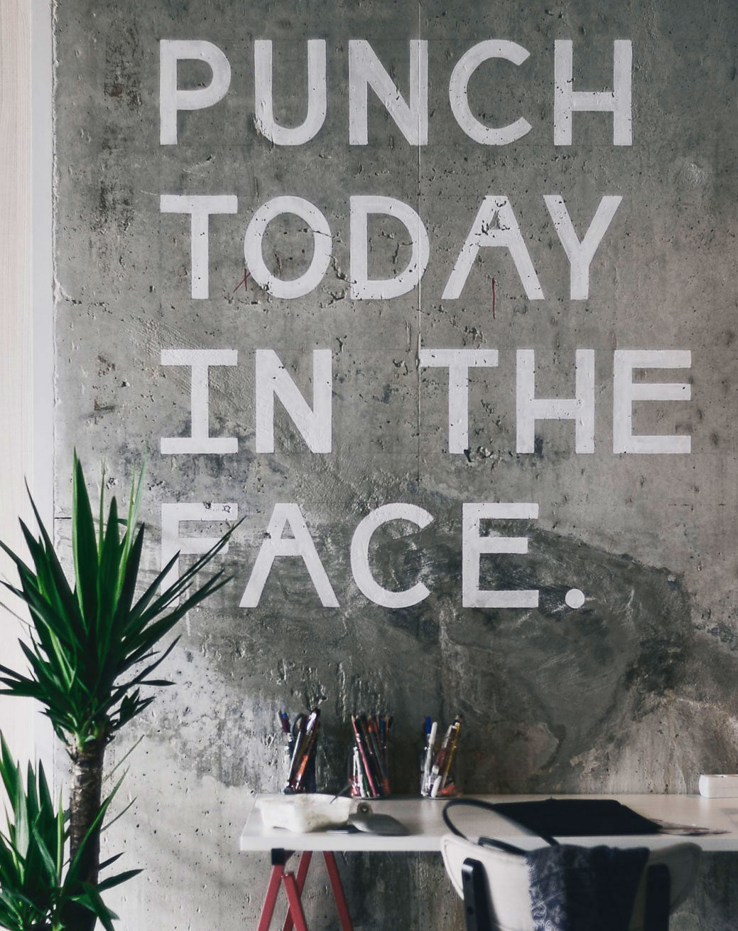 Quote on the wall