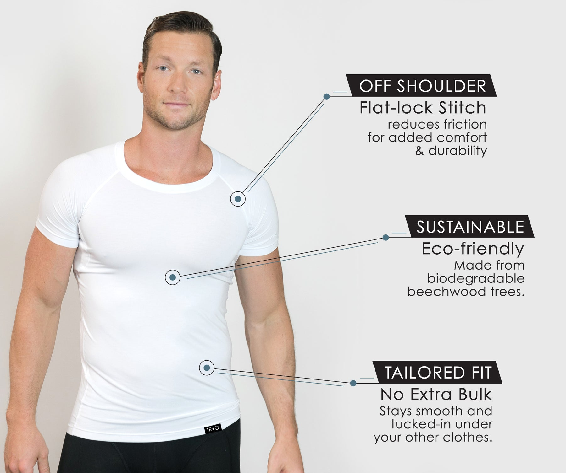 best sweat proof undershirts mens
