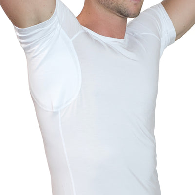 Men's Sweat Proof Undershirt - White - Crew Neck - Relaxed Fit by TR+O
