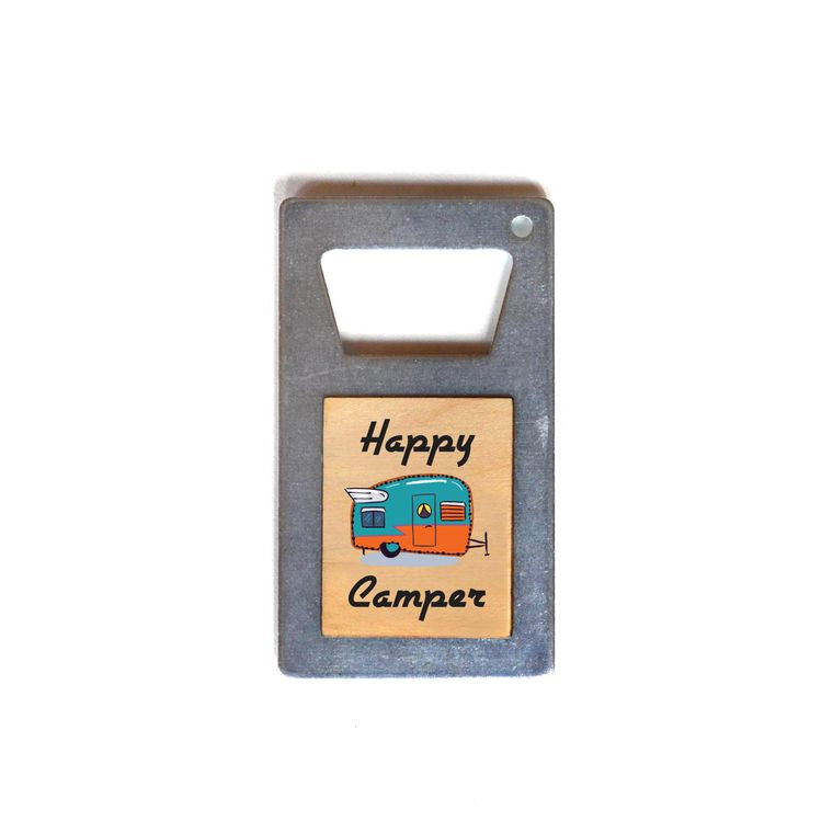 Happy Camper - Bottle Opener Magnet
