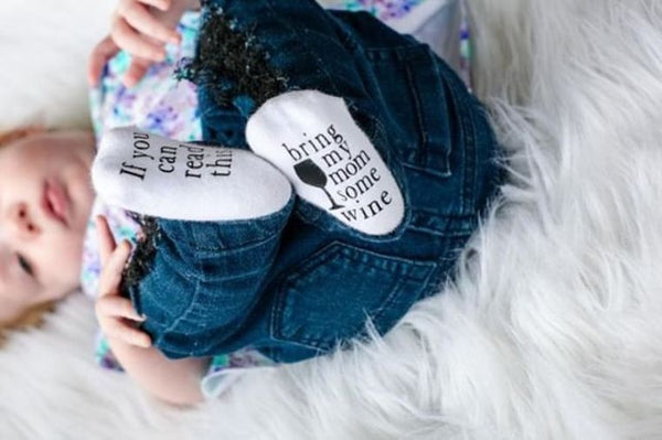 Get Mom Wine Baby Socks
