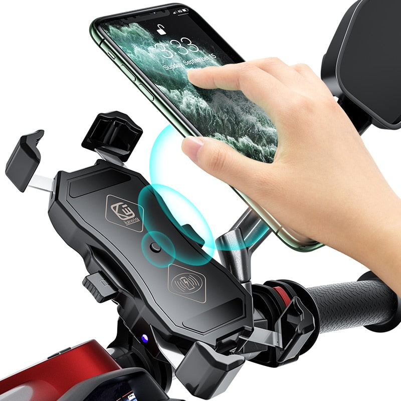 Phone Holder With Wireless Smart Charge