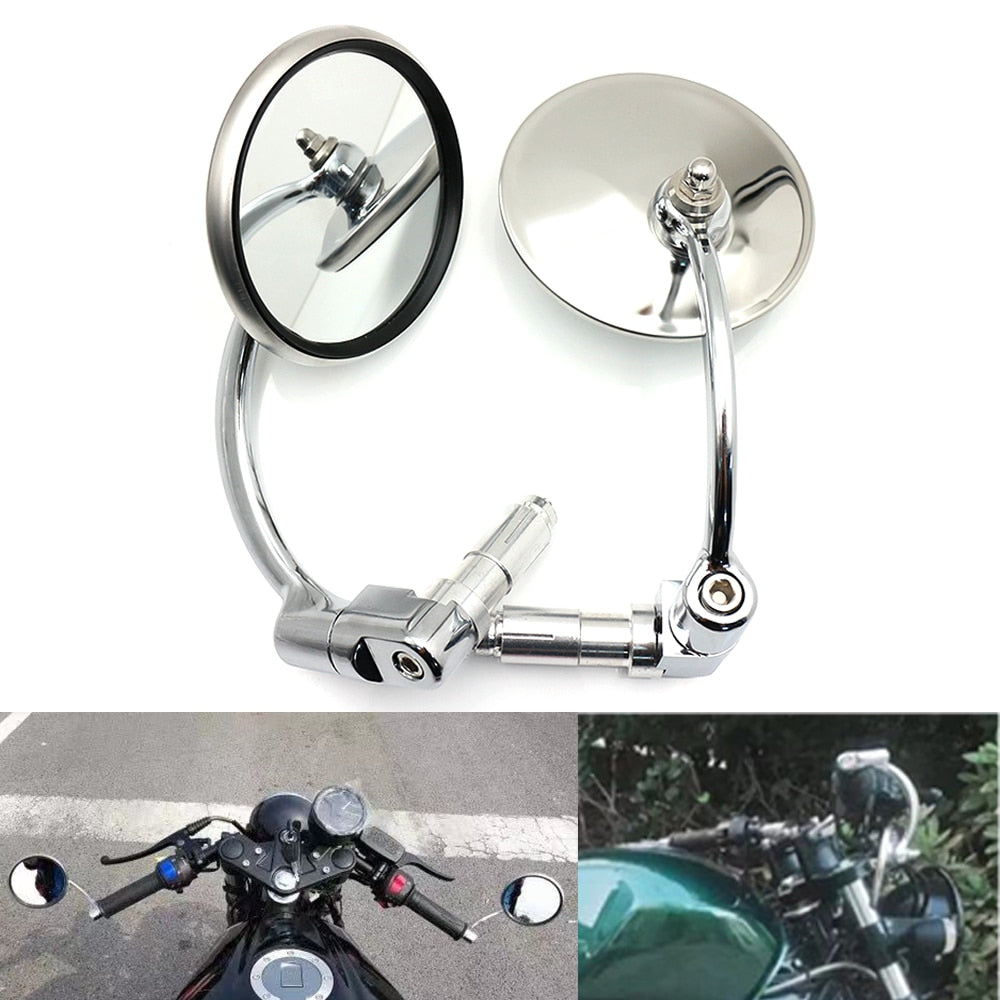 Chrome Zijspiegels voor Cruiser Chopper Bobber Cafe Racer