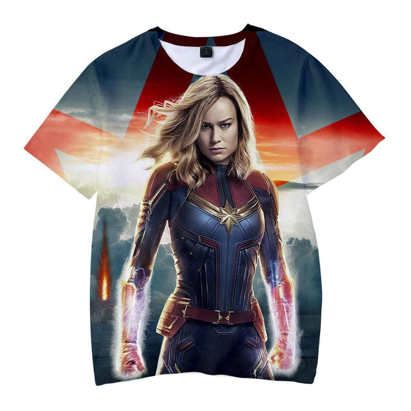 Captain Marvel T-Shirt - Carol Danvers Graphic T-Shirt CSOS920