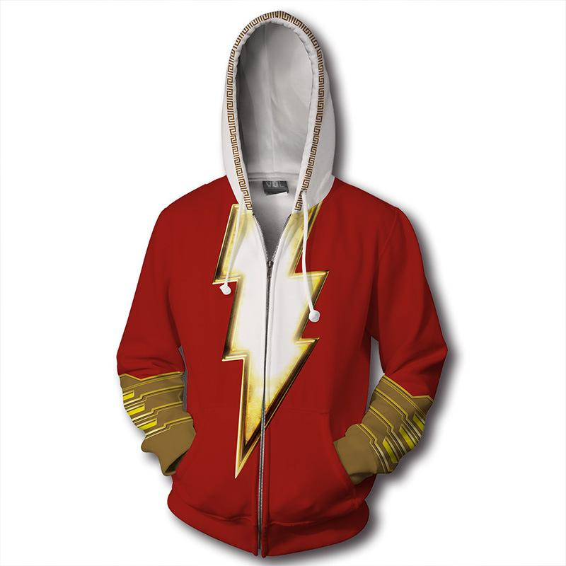 Super hero Thunder Sazan 3D Digital Printed Guard Round Collar Hoodie