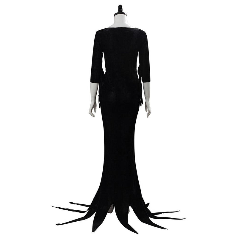 Morticia Addams The Addams Family Cosplay Costume Outfit Dress Suit Uniform