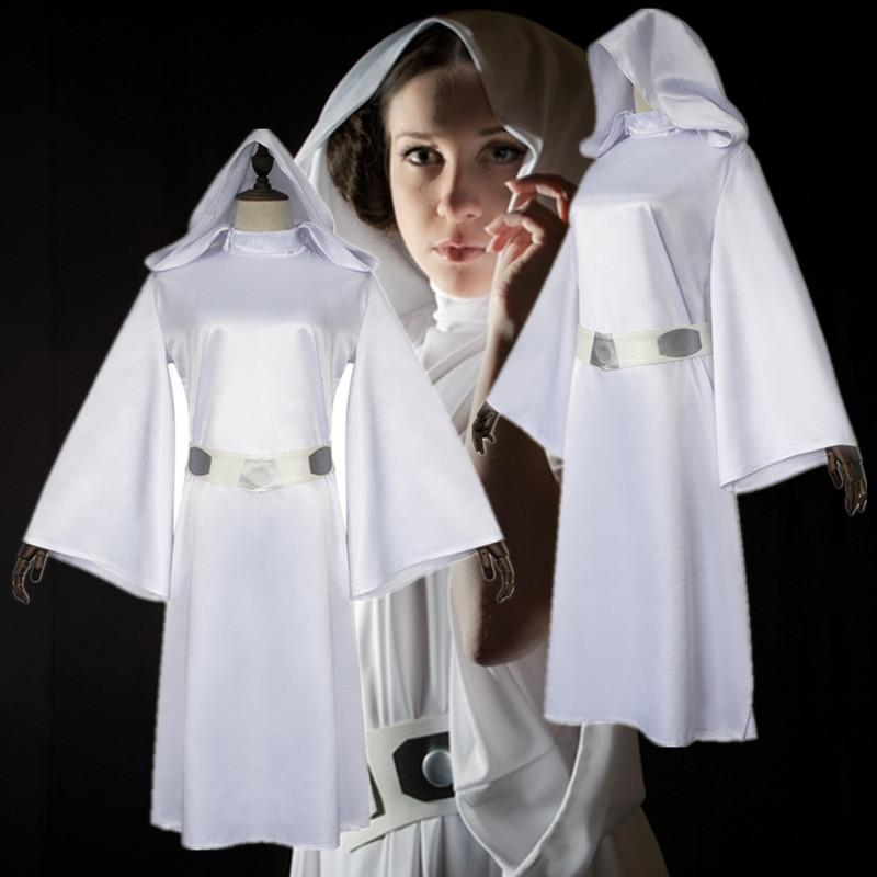 Star Wars Princess Leia Costume Leia White Dress Cosplay Costume
