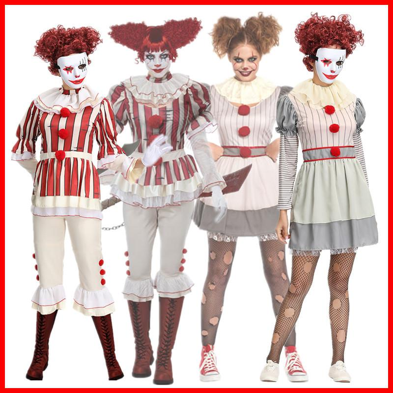 Stephen Kings It Women Joker Costume Pennywise Costume Halloween Cosplay Costumes Outfit Suit