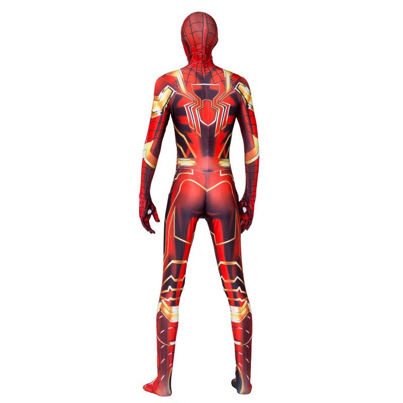 Superhero Halloween Cosplay Iron Man And Spiderman Mix Style Jumpsuit For Men And Teens