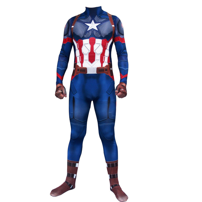 Captain America Adult Jumpsuit Avengers Clothes Halloween Cosplay costumes