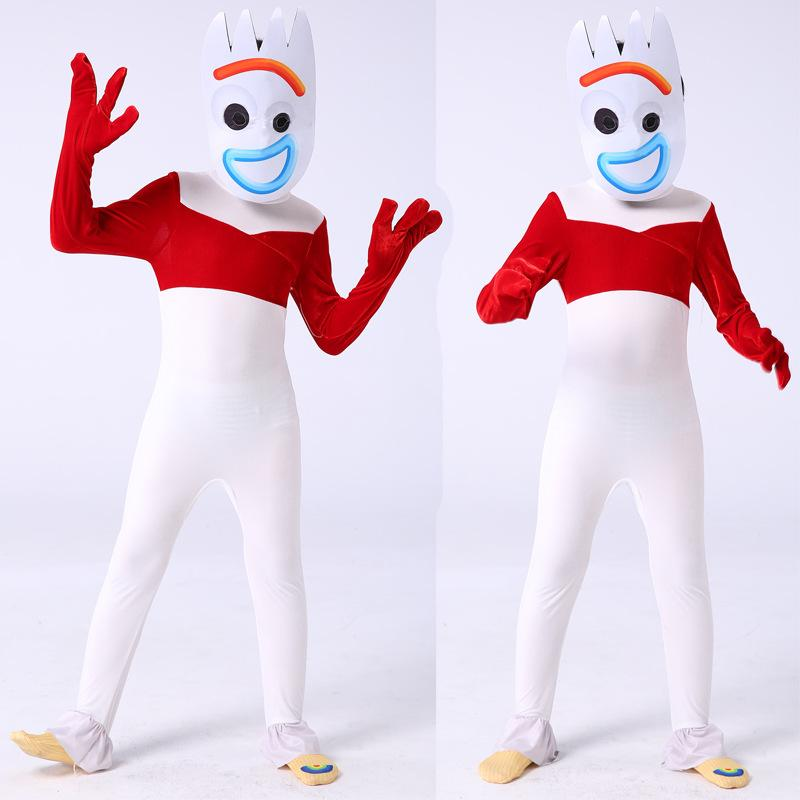Toy Story 4 Forky Jumpsuit Costume For Adults And Kids Halloween Cosplay