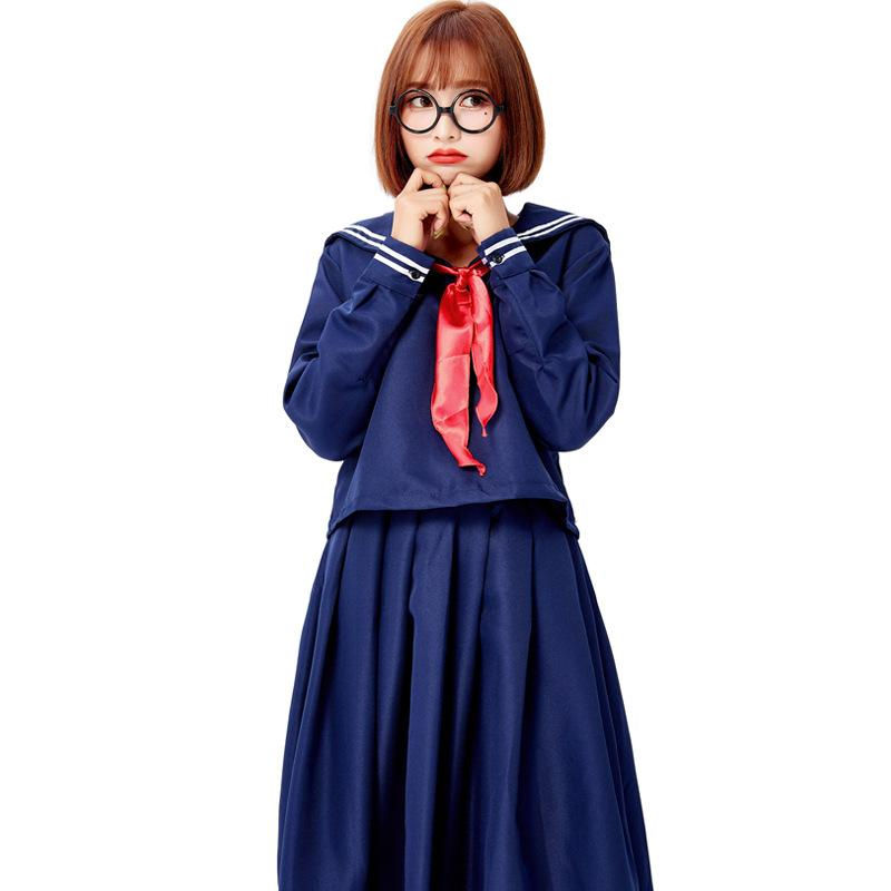 Stranger Things Jumper Costume Sailor Blue Dress Cosplay For Girls And Women