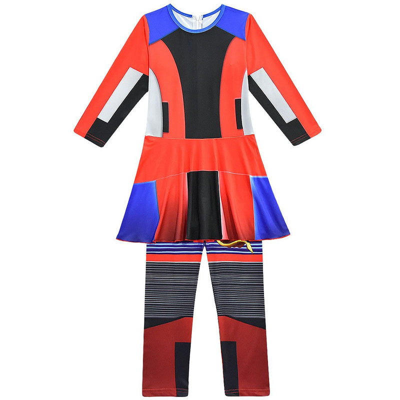 Descendants 3 Evie Anime Cosplay Costume Jumpsuits Halloween Carnival Costume For Kids