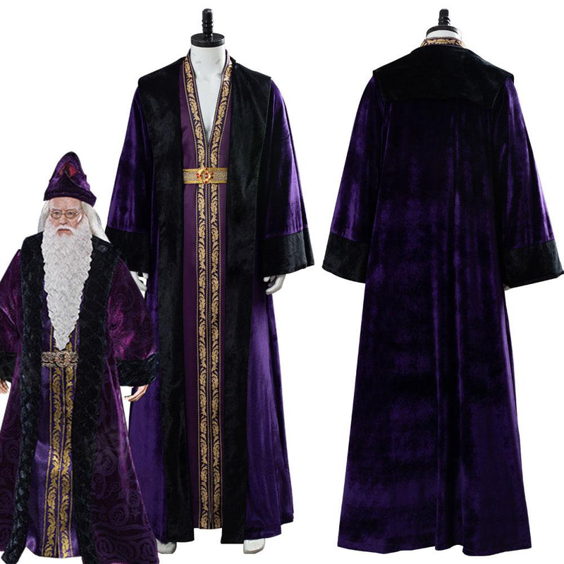Harry Potter Albus Dumbledore Suit Cosplay Costume