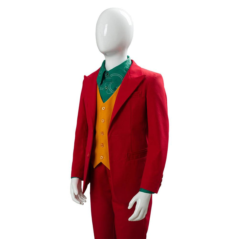 2019 Joker Origin Romeo Joaquin Phoenix Arthur Fleck Suit Cosplay Costume For Kids