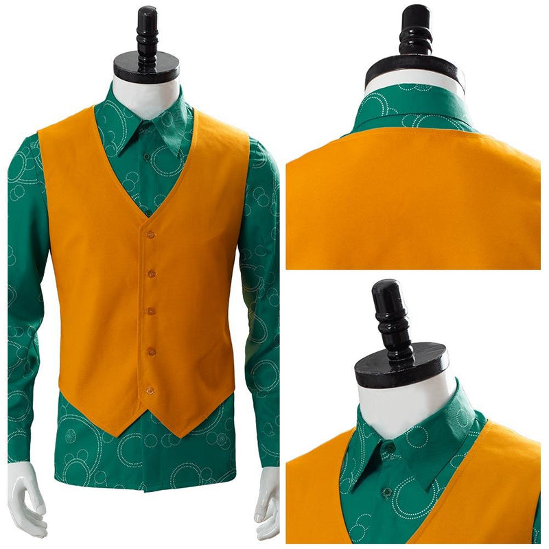 2019 Joker Joaquin Phoenix Arthur Fleck Shirt With Vest Cosplay Costume