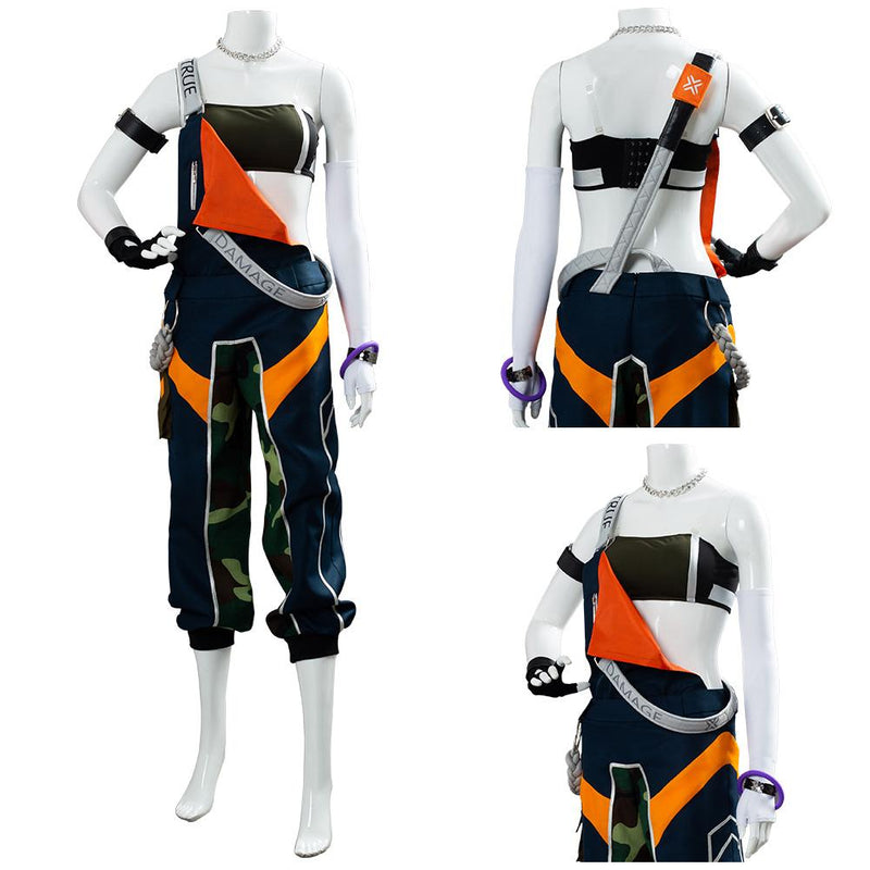 League of Legends LOL TRUE DAMAGE Akali Suit Cosplay Costume