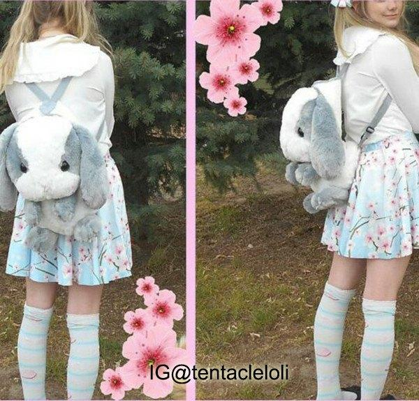 Fluffy Bunny Backpack