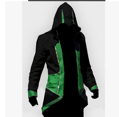 Assassins Creed Cosplay Adult Men Women Streetwear Hooded Jacket Coats Outwear Costume Edward